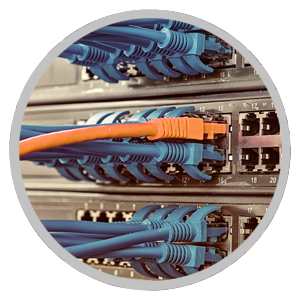 Image of cables plugged into a unit